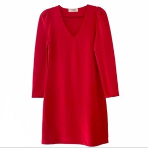 No Frills Los Angeles Red Long Sleeve Dress Small